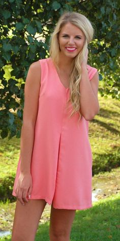 Totally Twiggy Dress-Coral #dresses #sale