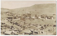 Early 1900's RPPC Business Section, Victor, Colorado Bird's Eye View