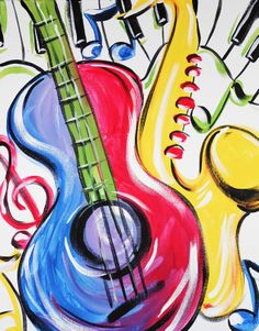 Music in Color #color #music #art #paintnite #guitar