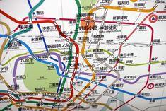 Peta kereta di Tokyo Jepang