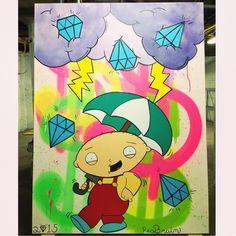 """ Follow the artist: @peabrainstudios  #art #artist #artbotic #familyguy #stewie"" Photo taken by @artbotic on Instagram, pinned via the InstaPin iOS App! http://www.instapinapp.com (04/01/2015)"