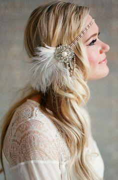 Vintage Inspired, Bridal Hairpiece