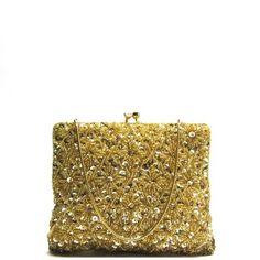 vintage gold evening bag #doortjevintage