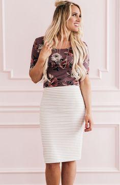 Striped Pencil Skirt - S2564
