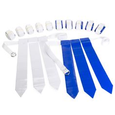 07256fea04 Blue   White - 36 Flags   12 Belts - Velcro Flag Football Set