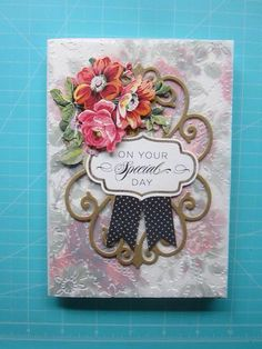 Card from Anna Griffin FB page; embossed vellum