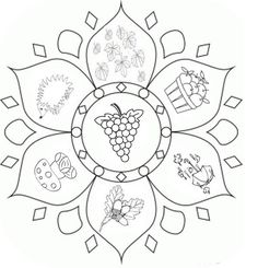 Malvorlage Herbst-Mandalas - Color Me Beautifully - Mandala Coloring Pages, Free Coloring Pages, Coloring For Kids, Coloring Books, Autumn Activities For Kids, Fall Crafts For Kids, Art Adulte, Mandalas For Kids, Mindfulness Colouring