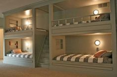 Bunk beds - would love to have a room in my home big enough to have these....