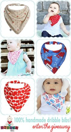 Competition - Bibska Handmade Baby Dribble, Bandana Bibs
