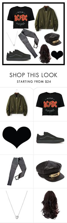 """""""Metal"""" by pesmica ❤ liked on Polyvore featuring WithChic, Boohoo, Brika, Vans, Ralph Lauren, Moschino, Links of London, 60secondstyle and PVShareYourStyle"""