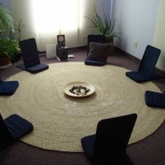 Living RoomMeditation Room Ideas For Much ChairMeditation Room Ideas With Blue Cushion