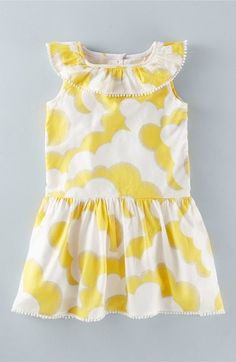 Mini Boden 'Summer Ruffle' Print Dress