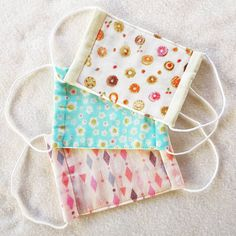 Reusable Hygiene Masks for Kids and Adults! For Flu, Hay Fever, Pollen, Dust & Snoozing! Made in Japanese Cotton Double Gauze! Set of 3 マスク Tapas, Flu Mask, Mask Online, Japanese Cotton, Double Gauze Fabric, Fabric Bags, Diy Face Mask, Face Masks, Mask Making