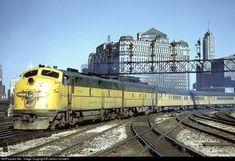 Chicago and Northwestern EMD E7s.