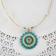 Fan earrings Long turquoise earring turquoise & di LioraBJewelry