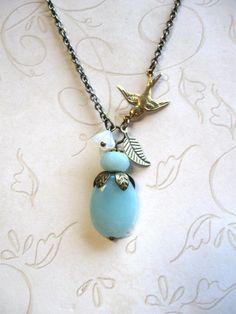 Robins egg blue necklace