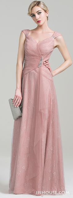 This is romantic and feminine. Moms will love the way they look in this dress. #motherofthebridedress