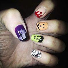 halloween nailsart