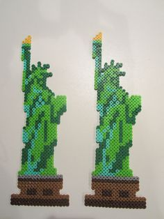 Statue of Liberty perler beads by perlerbeadcrafts