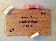 Custom Door Mat Dog Door Mat Door Mats With By ToniAnnsBellaArte