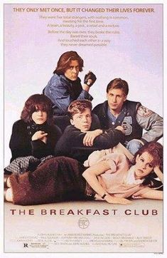 """The Breakfast Club"". I'm not sure what it is with these 1980'es movies and their cult-like status - John Hughes, The Brat Pack and so on. But  I do know that it just doesn't cut it for me. I find most of the stories and scenes either bizarre, strange, boring or all of the above. And the way they talk! Did it really sound like that at the time? I feel like these movies have hidden motives and deeper meanings that I'm supposed to find fascinating. But I regret to say that is not the case. <3 <3"