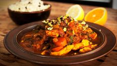 Algerian Spiced Chicken with Dates, Couscous & Currants