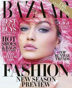 Gigi on the cover of Harper's Bazaar June/July 2017 issue