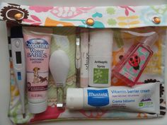 XL Clear Pocket Diaper Bag Organizer for Nursing Wipes First Aid Hospital Medical Supplies (7x9 Happi Animals Fabric) Baby Shower New Mom. $15.95, via Etsy.