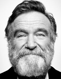Robin #robinwilliams #beard #blackandwhite