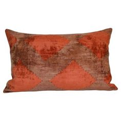 Check out this item at One Kings Lane! Delma 16x24 Silk Pillow, Red