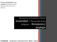 Universidad de Los Andes Facultad de Arte Departamento de Teoría e Historia Elementos de Semiótica Visual: Iconicidad – Taxonomía de las imágenes – Semejanza.