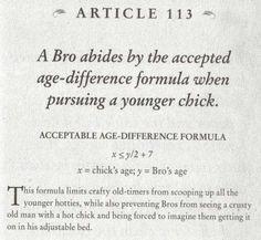 Bro code girl age formula for dating