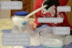 Dry ice bubbles with better container set up than I've done before. Science Activities For Kids, Preschool Science, Science Classroom, Science Fair, Stem Activities, Science Projects, Kid Science, Educational Activities, Dry Ice Bubbles