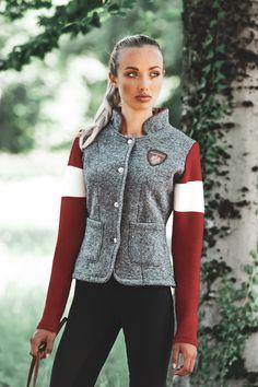 Vest, Blazer, Fashion, Mandarin Collar, Gray, Jackets, Breien, Moda, La Mode