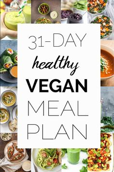 A whole month of healthy gluten-free vegan recipes! A whole month of healthy gluten-free vegan recipes! Whole Foods Vegan, Whole Foods Meal Plan, Vegan Foods, Vegan Dishes, Healthy Meals To Cook, Good Healthy Recipes, Vegan Recipes Easy, Whole Food Recipes, Diet Recipes