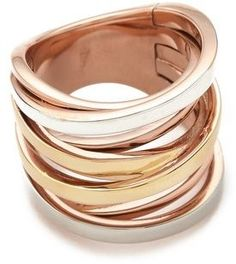 vvv Michael kors Brilliance Tri-Tone Intertwined Ring on shopstyle.com