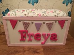 Personlised toy box £90 + £15 postage see more @ http://www.facebook.com/lauras.charactercrafts