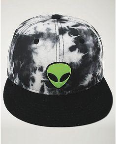 78d420d0cd7 Tie Dye Alien Snapback Hat - Spencer s