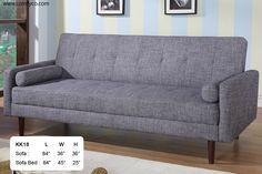 Sleeper, Sleeper Sofa, Sofa Bed, Sleepers, Futons, Klik-Klak Sofas: AH18 (Grey)