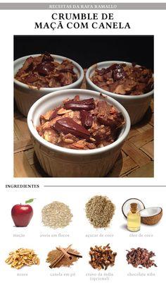 Fit Chef: Crumble de maçã e canela   CAROL BUFFARA