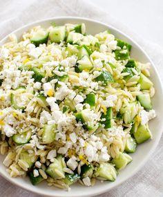 orzo pâte salade concombre feta citron