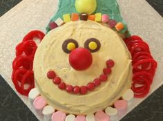 Because sometimes we all need a little fun in our life: How to Make a Clown Cake: 10 steps (with pictures) - wikiHow