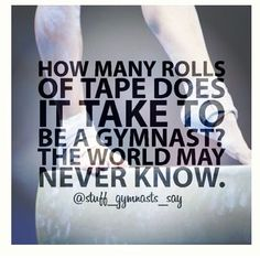 How many rolls of tape? I used to go through at least 2 a week sometimes. Gymnastics Funny, All About Gymnastics, Gymnastics Problems, Gymnastics Coaching, Gymnastics Workout, Gymnastics Pictures, Sport Gymnastics, Olympic Gymnastics, Gymnastics Sayings