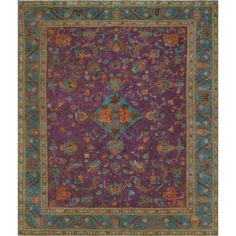 The allover design distressed and hand painted make Vintage Distressed Overdyed Hand Knotted Wool Purple Area Rug. Due to its meticulous handmade nature, no two Rugs are exactly alike and quantities are limited. To extend the life of this rug and this manufacturer recommend to always use a rug pad. Professional cleaning only.