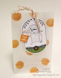 Googly Ghouls Class: polka dot bags