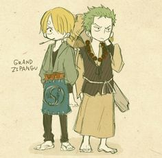 Zoro and Sanji One Piece