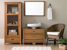 Tok&Stok Banheiro A madeira pode ser uma boa solução para levar aconchego e calor à decoração do lavabo.