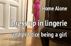 Coerced Into Skirts and TG Captions: Home Alone Dress up Time Sissy TG Caption