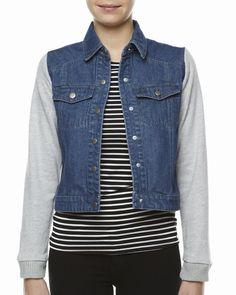 AZTEC ROSE JACKET http://www.surfstitch.com/eu/en/product/aztec-rose-ruby-jacket-vintage-blue-W44934VIB #aztecrose #jacket #jean #backtoschool #school #surfstitch