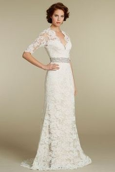 Styleegrace S This Wedding Dress Dresser Quarter Sleeve Ivory